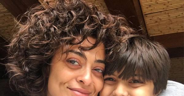 """Juliana Paes publica foto sem maquiagem: """"Cara de domingo ..."""