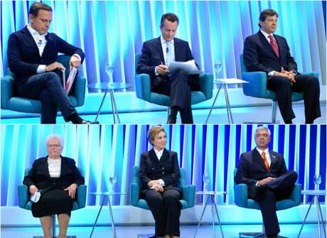 Veja imagens do último debate com os candidatos à prefeitura
