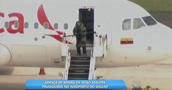 Avião é evacuado no Galeão após suspeita de bomba - Notícias ...