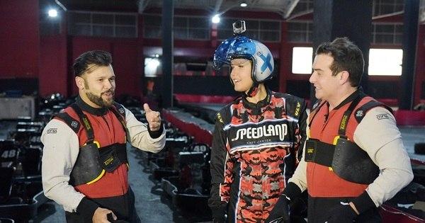 Fãs de velocidade, Marcos e Belutti disputam campeonato de kart ...