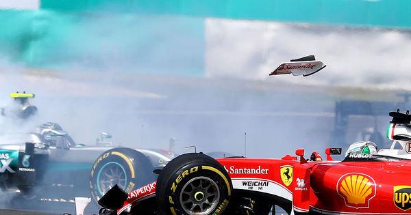 Punido por toque em Rosberg, Vettel perde 3 posições no grid do ...