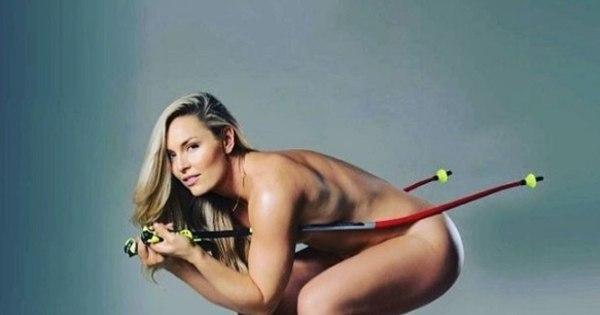 Musa do esqui e ex de Tiger Woods, Lindsey Vonn posa nua para ...
