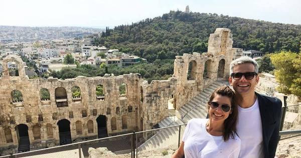 a viagem de Flávia Alessandra e Otaviano Costa pela Grécia