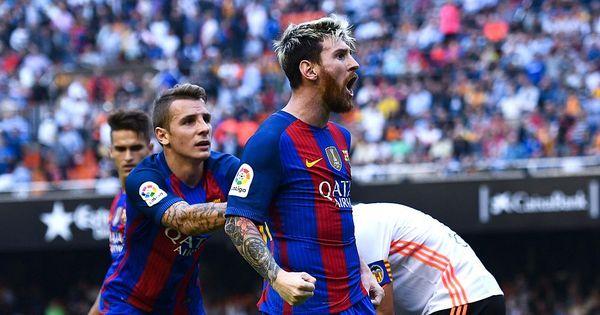 Messi marca nos acréscimos, Barça bate Valencia e assume a ...
