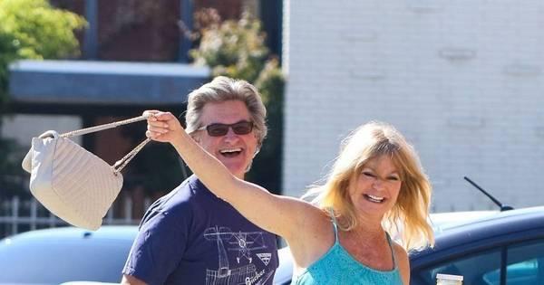 Simpatia pura! Goldie Hawn e Kurt Russell são só sorrisos para os ...