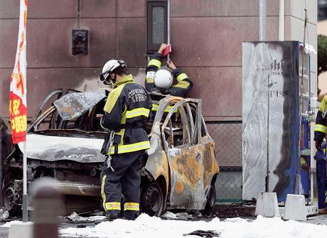Carro explode e mata uma pessoa no Japão. Outras 3 ficaram feridas