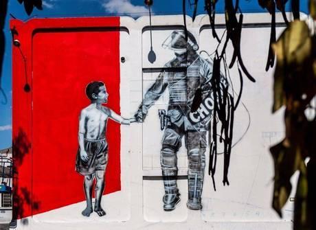 Paredes do batalhão do Choque vão receber arte de rua na capital