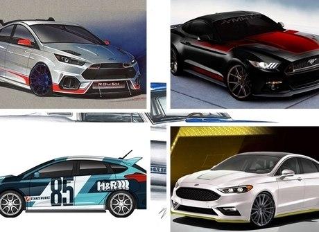 Ford apresenta carros tunados para evento nos Estados Unidos