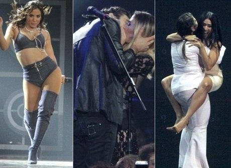 Tatá Werneck e Iorc se beijam, Anitta lacra e Fafá tira a roupa