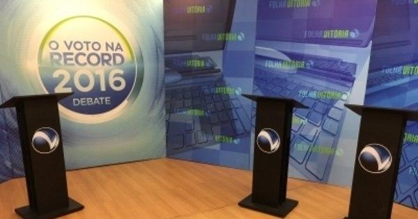 Ao vivo: Candidatos a prefeito de Vitória se enfrentam em debate ...