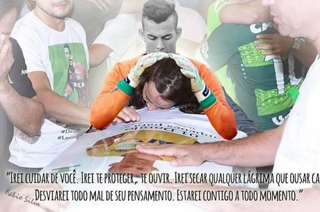 Mãe do goleiro Danilo posta montagem do filho e comove torcedores