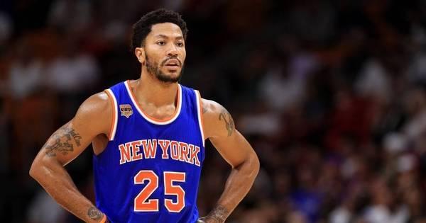 Derrick Rose falta a jogo dos Knicks e tem futuro incerto na NBA