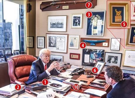 Saiba agora como é a decoração do escritório de Trump em Nova York
