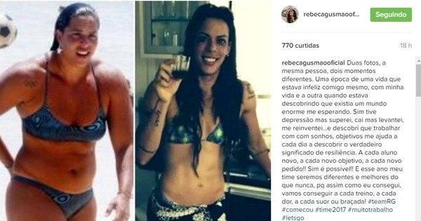 Rebeca Gusmão posta foto de