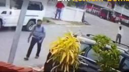 Câmeras gravaram suposto homem-bomba segurando mochila no Sri Lanka (Reprodução)