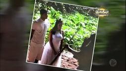 Vaza foto do casamento de Anitta e Thiago Magalhães realizado na Amazônia ()