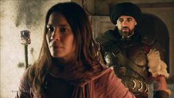 Hannibal protege Queila e Baruch e diz que jamais faria mal ao próprio filho (Reprodução)