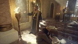 Eliaquim queima a profecia que Jeremias escreveu após receber mensagem de Deus  (Reprodução)