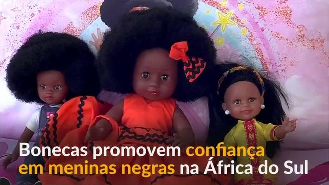 Bonecas promovem confiança em meninas negras na África do Sul