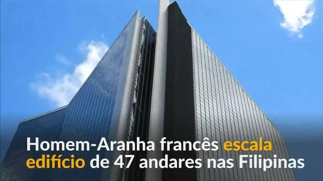 Homem-Aranha francês escala edifício de 47 andares nas Filipinas