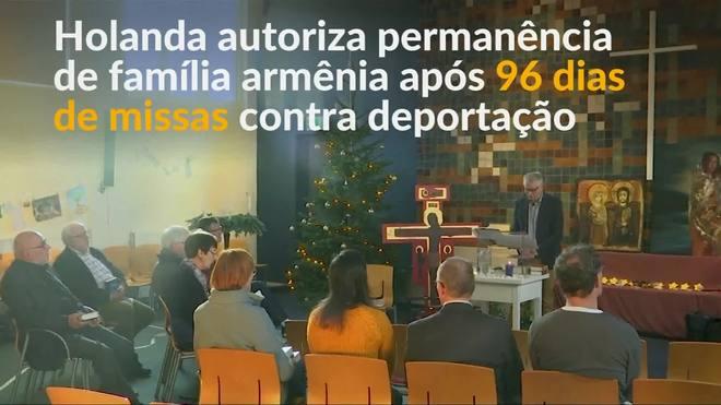 Holanda cancela deportação de família após 96 dias de cultos