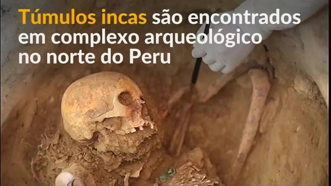 Túmulos incas são encontrados em complexo arqueológico no Peru