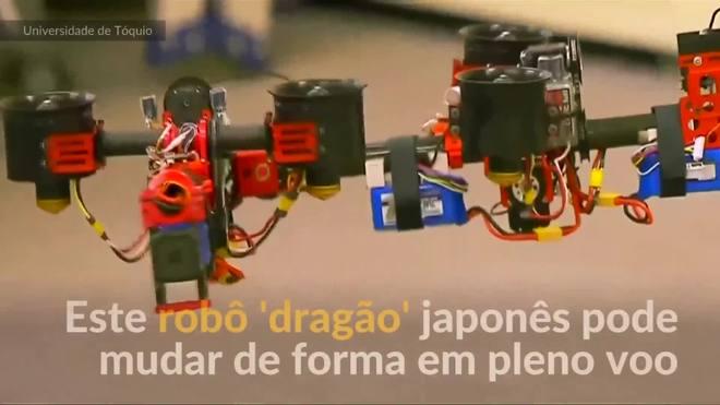 Robô voador 'dragão' japonês pode trocar de forma em pleno voo