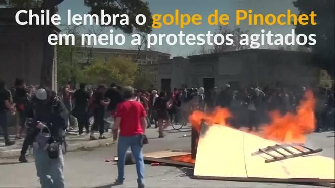 Chile tem protestos violentos no dia que marca 45 anos do golpe de 1973