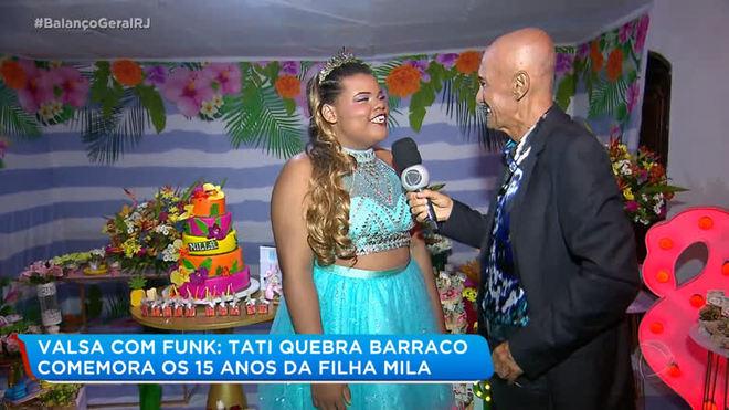 Filha de Tati Quebra Barraco faz 15 anos e Amin vai à festa