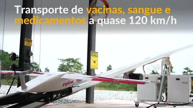 Drones entregam vacinas, sangue e medicamentos em Gana