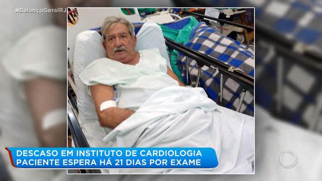Com 36% do coração em funcionamento, paciente aguarda por exame no Instituto de Cardiologia
