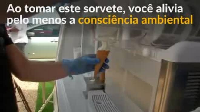 Van elétrica vende sorvete livre de emissões no Reino Unido
