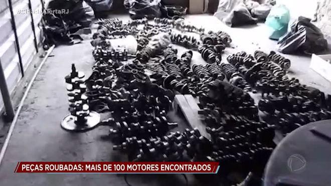 Polícia prende trio suspeito de integrar quadrilha que vende peças de carros roubados no Rio