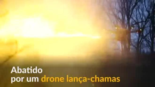 Drone lança-chamas pode atingir alvos a quase 8 metros