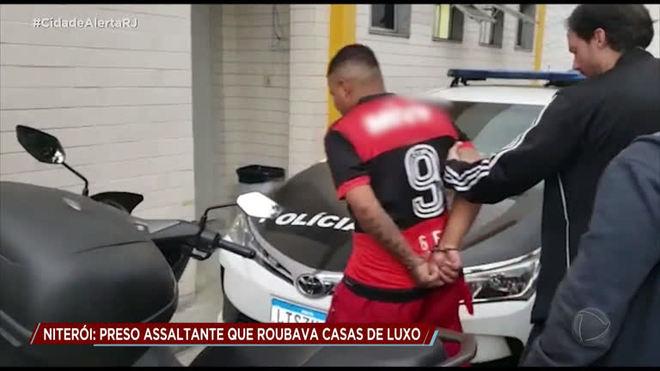 Integrante de quadrilha de roubos a casas de luxo é preso em Niterói