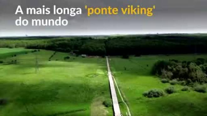 Mais longa ponte viking do mundo é construída com tecnologia milenar