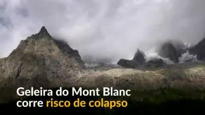 Na Europa, geleira de Mont Blanc corre risco de colapso