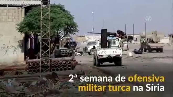 Ofensiva militar turca na Síria entra na 2ª semana