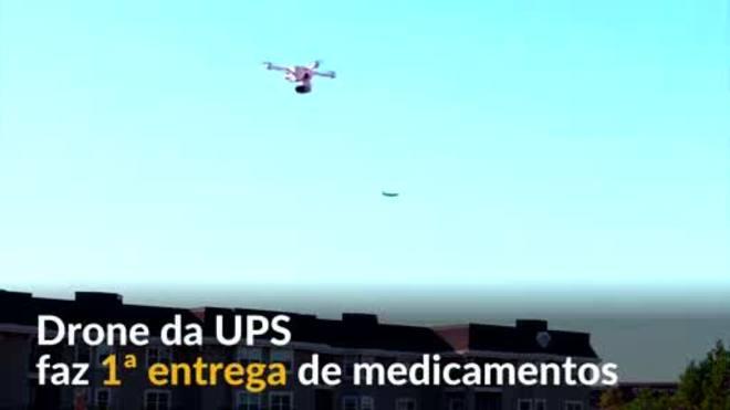 Drones realizam a primeira entrega de remédios em domicílio