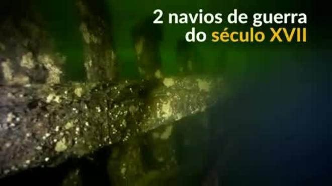 Suécia encontra navios de guerra do século XVII naufragados