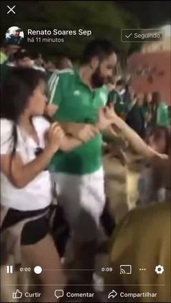 Suposta torcedora do Corinthians é agredida pela torcida do Palmeiras