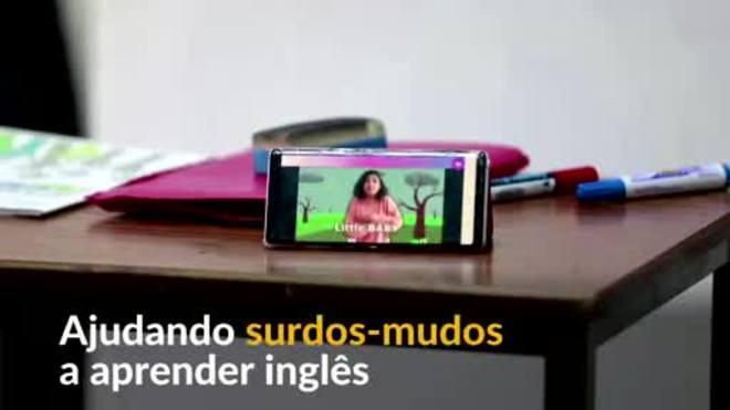 Aplicativo tunisiano ensina inglês a surdos-mudos