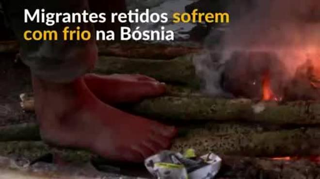 'Pessoas não são animais' - migrantes sofrem na Bósnia