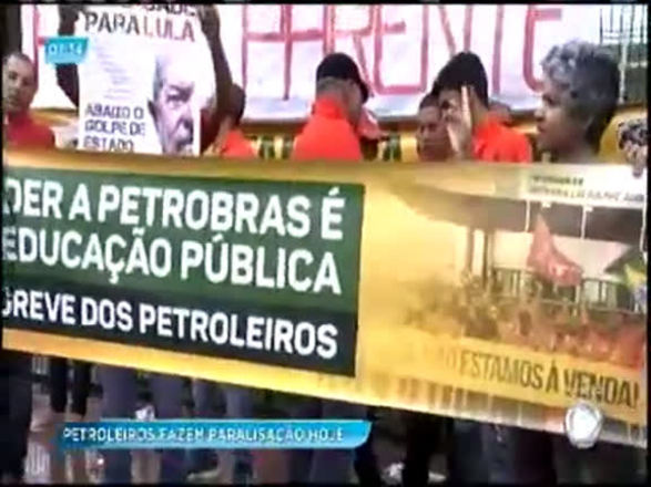 Petroleiros da Bahia aderem à greve de 72 horas na Bahia
