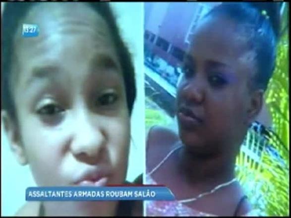 Vídeo: mulheres assaltam salão de beleza no bairro de Brotas