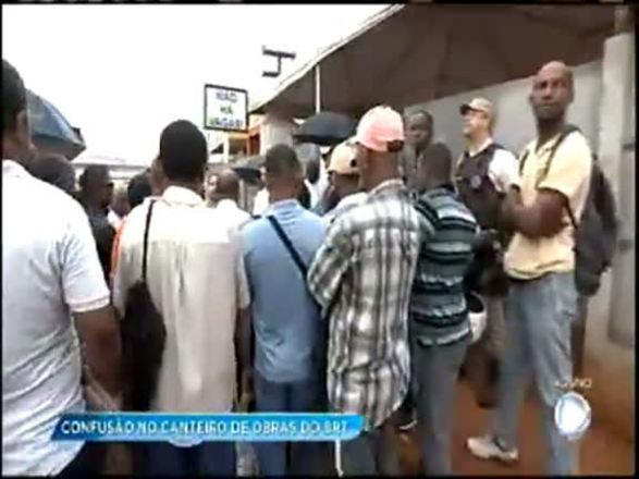 Trabalhadores exigem contratação de mão de obra local para a implantação do BRT