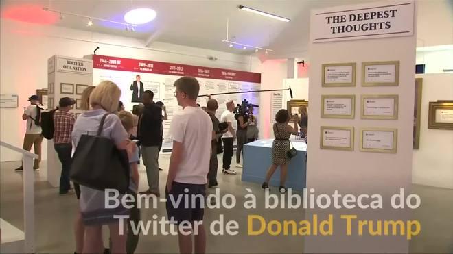 Tuítes de Donald Trump ganham sua própria biblioteca