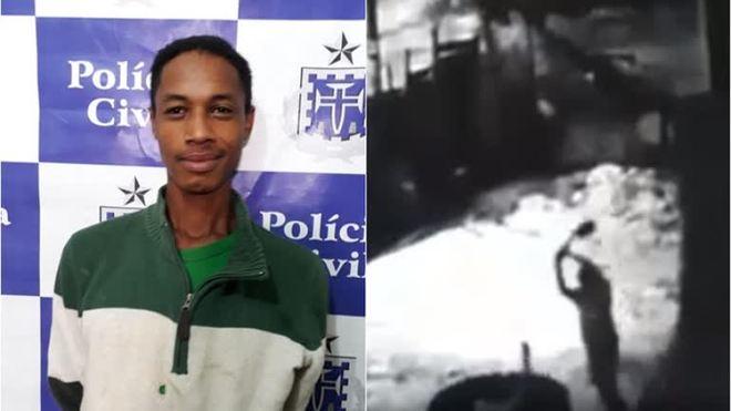 Homem é preso após tentar matar segurança de obra; assista