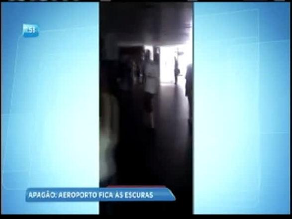 Apagão atinge aeroporto de Salvador nesta terça; assista