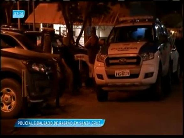 PM é baleado no rosto durante operação na Santa Cruz; assista